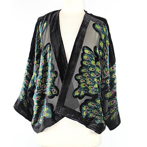 Burnout Velvet Kimono - 9