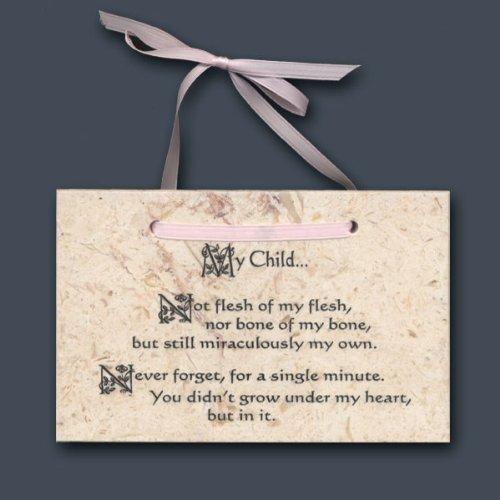 (Holy Land Stone Company Baby Girl Adoption Poem.My Child)