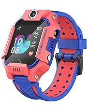 linyingdian Kids Smartwatch, Kids Smart Watch met waterdicht, IP67 LBS SOS, Camera, Gaming, Smartwatch met simkaartsleuf, Gift Boy Girl (3 tot 12 jaar oud) compatibel met iOS/Android (rood)