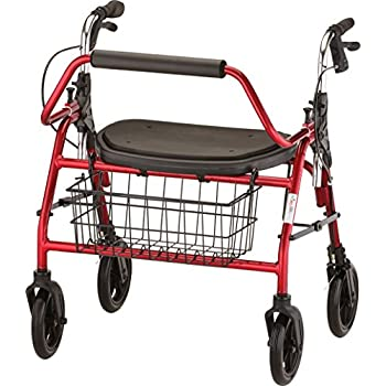Amazon Com Healthsmart Rollator Walker With Seat And