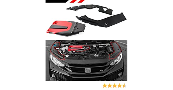 Amazon.com: FOR 2016-2018 HONDA CIVIC JDM RED BLACK TYPE-R STYLE ENGINE VALVE COVER + ENGINE BAY SIDE PANEL COVERS: Automotive