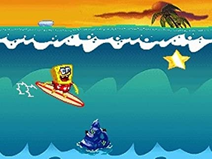 Video Games & Consoles Spongebob Surf & Skate Original Cover And Instruction Booklet