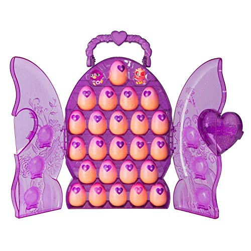 SpinMaster Hatchimals Colleggtibles Set & Glittery Purple Collectors Case with 2 Exclusive Hatchimals Colleggtibles & 24 Eggs, Multicolor ()