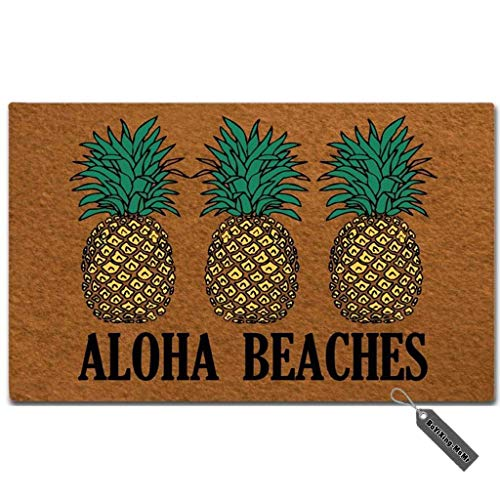 MsMr Doormat Funny Doormat Aloha Beaches Door Mat Decorative...