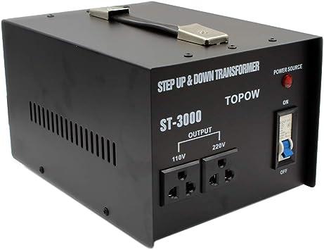 topow 3000 W Voltaje Convertidor Transformador de 3000 W Paso Arriba y Abajo: Amazon.es: Electrónica