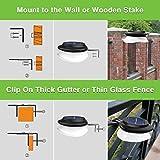JSOT Outdoor Solar Fence Light Solar Powered Gutter