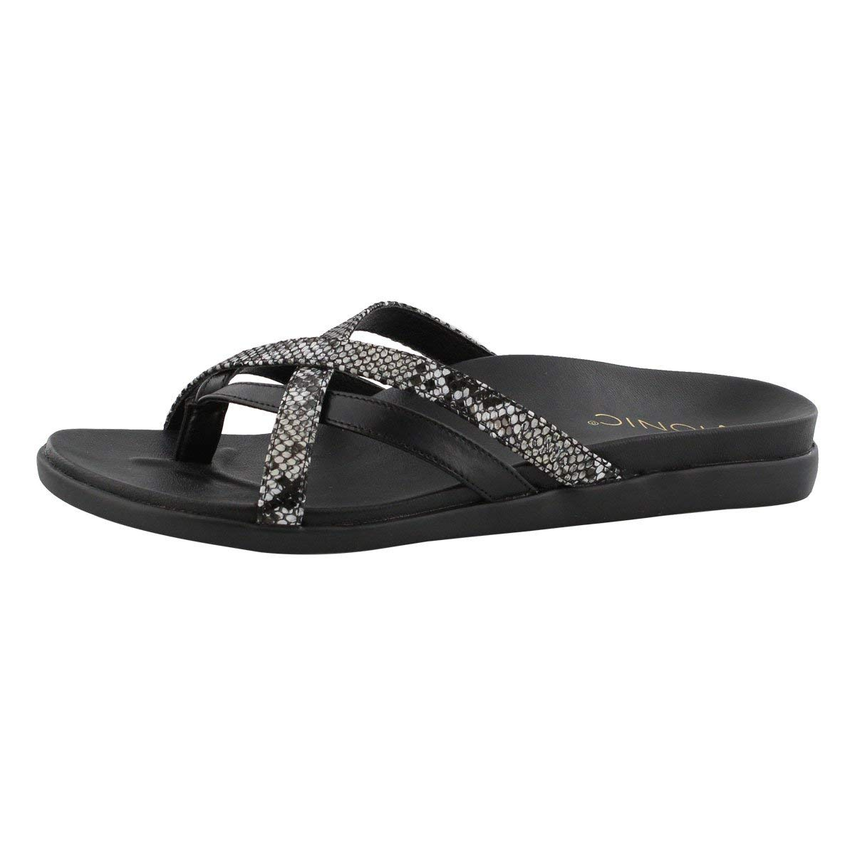 Nat snake Vionic Women's Palm Daisy Arch Support Thong Sandal
