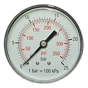Manómetro 50 mm 1/4 15 bares de presión aire manómetro Compresor De Aire