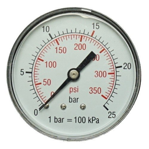 Manómetro 50 mm 1/4 15 bares de presión aire manómetro Compresor De Aire Comprimido: Amazon.es: Bricolaje y herramientas