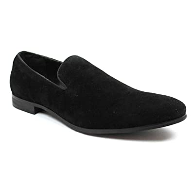 Men's Synthetic Leather Loafers Shoes 7 Black