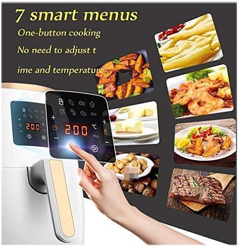 Air Fryer, 3.2L, 1500W Affichage numérique, 7 programmes, minuterie et régulateur de température for la santé, sans huile et faible en gras de cuisson, Blanc xuwuhz