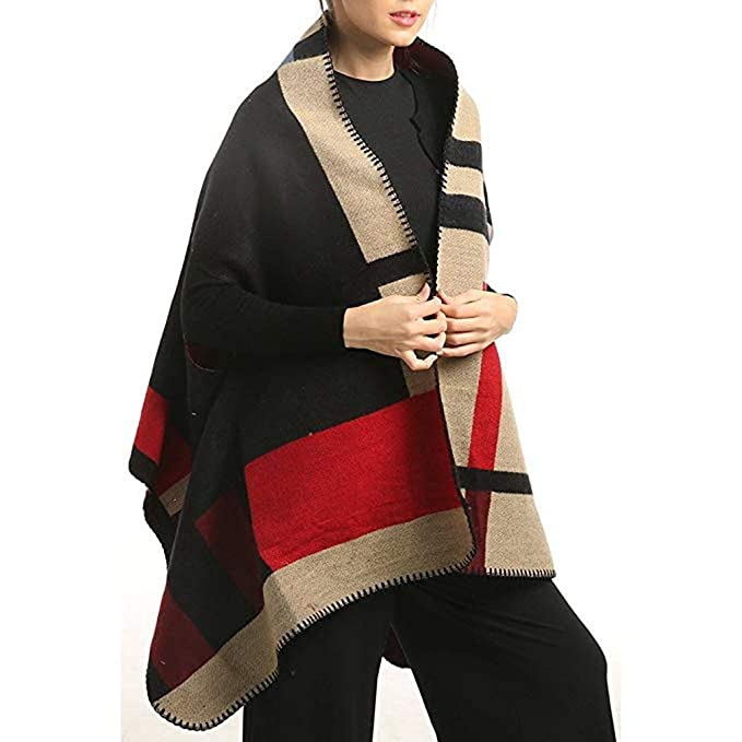 f16983ece6168 Image Unavailable. Image not available for. Color: Ponchos for Women  Elegant Winter Warm Multifunction Knitted Sweater VestShawl Wrap Scarf  Blanket ...
