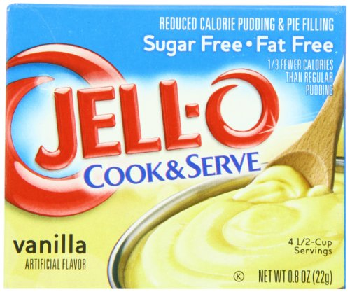 (JELL-O Vanilla Sugar Free Cook & Serve Pudding & Pie Filling Mix (0.8 oz Boxes, Pack of 24))