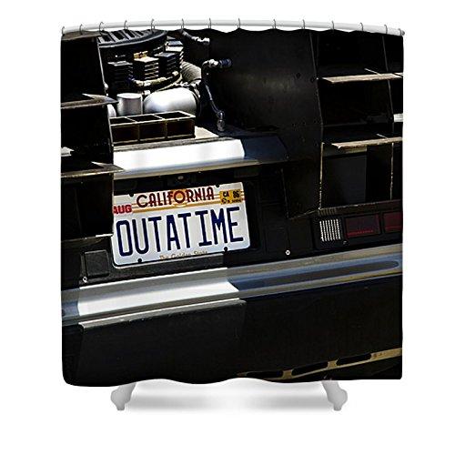Pixels Shower Curtain (74'' x 71'') ''Outatime''