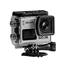 "SJCAM SJ6 LEGEND Sport Action Camera 4K 2K 2"" LCD Back Touch Screen External Mic Metal Body Gyro Slow Motion SILVER + 1 EXTRA BATTERY"