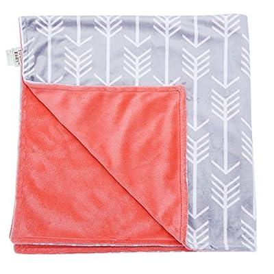Gray Arrow Minky Receiving Blanket by Towin Baby