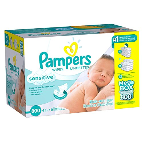 Pampers Sensitive Baby Wipes (800 ct.)