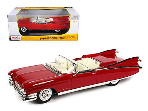1959 Cadillac Eldorado Biarritz Red 1/18 Model Car by Maisto