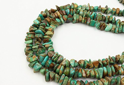 Goodbead Natural Turquoise Nugget Chip Shiny Gemstone Beads 15.5