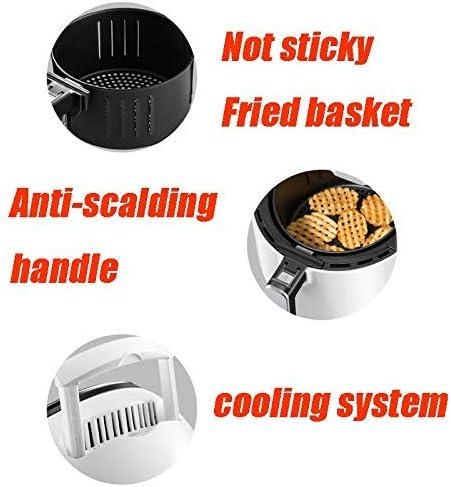 zyl Friteuse à air Friteuse à air Chaud | 36 L | 1300 W | Régulateur de température et minuterie | Écran Tactile | Cuisson Faible en Gras |Facile à Nettoyer |Blanc