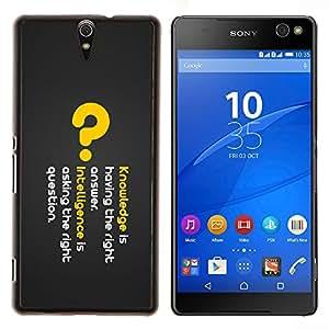 TECHCASE---Cubierta de la caja de protección para la piel dura ** Sony Xperia C5 Ultra ** --Conocimiento profundo del mensaje