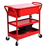 Goplus 20 Gallon Mobile Parts Washer Cart