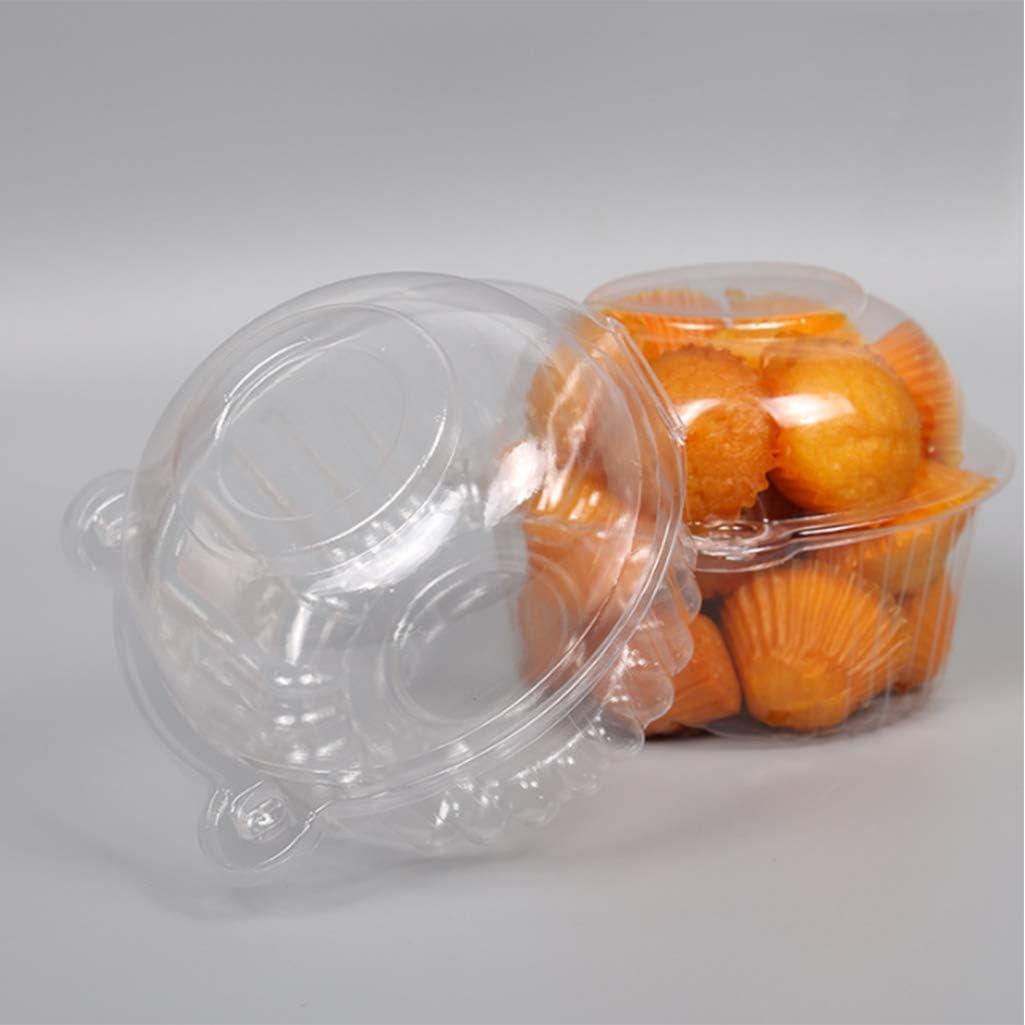 Lystaii 100 Bo/îtes De G/âteaux en Plastique Transparent Jetables pour La Cuisine A Domicile Cuisine Transparente Muffin G/âteau D/ôme Box G/âteau Stand 112mm X 80mm