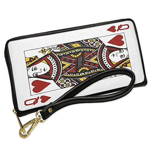 Wallet Clutch Queen of Hearts - Queen / card game with Removable Wristlet Strap Neonblond - Queen Of Hearts Purse