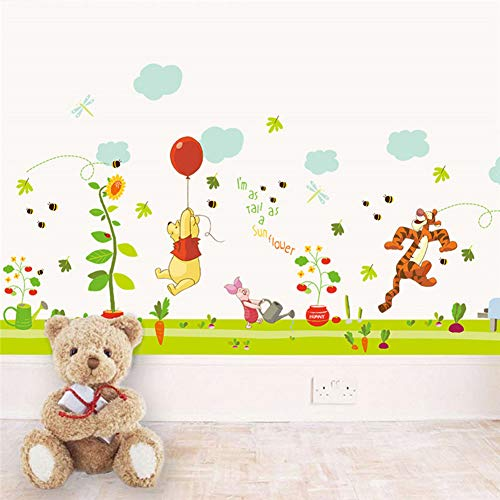 (Winnie The Pooh 26 Letters Home Decor Height Measure Wall Stickers DIY Alphabet Mural for Kids Rooms Bedroom School Decal)