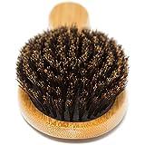 100% Boar Bristle Hair Brush Set. Soft Natural
