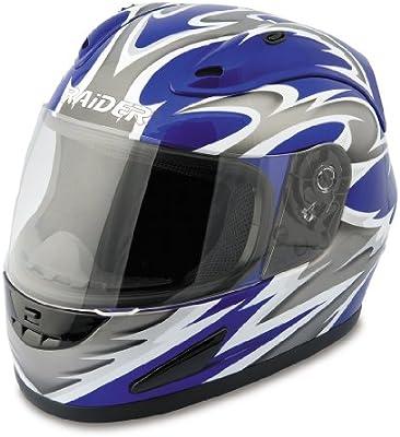 9edb4ae5 Amazon.com: Raider Full Face Helmet (Blue, Medium): Automotive