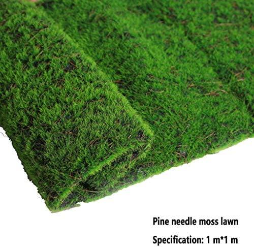 室内景観合成芝生、シミュレーションプラント背景壁苔芝居家の装飾裏庭庭の装飾 (Color : Green, Size : 1pack)