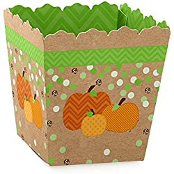 Pumpkin Patch - Party Mini Favor Boxes - Fall & Halloween Party Treat Candy Boxes - Set of 12