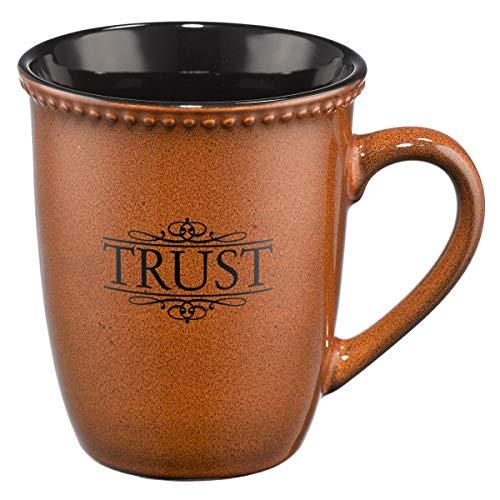 "Saddle Tan ""Trust"" Verse Mug"