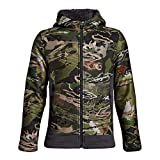 Under Armour Boys Stealth Fleece Jacket, Ua Forest Camo (940)/Black, Youth X-Large