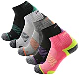 5 Pairs Athletic Running Socks Half Cushioned Terry Socks for women Sneaker & Sports Socks for Running, Athletic, Hiking, Cycling (Style 2-S(UK 3-6.5 / EU 35-39))