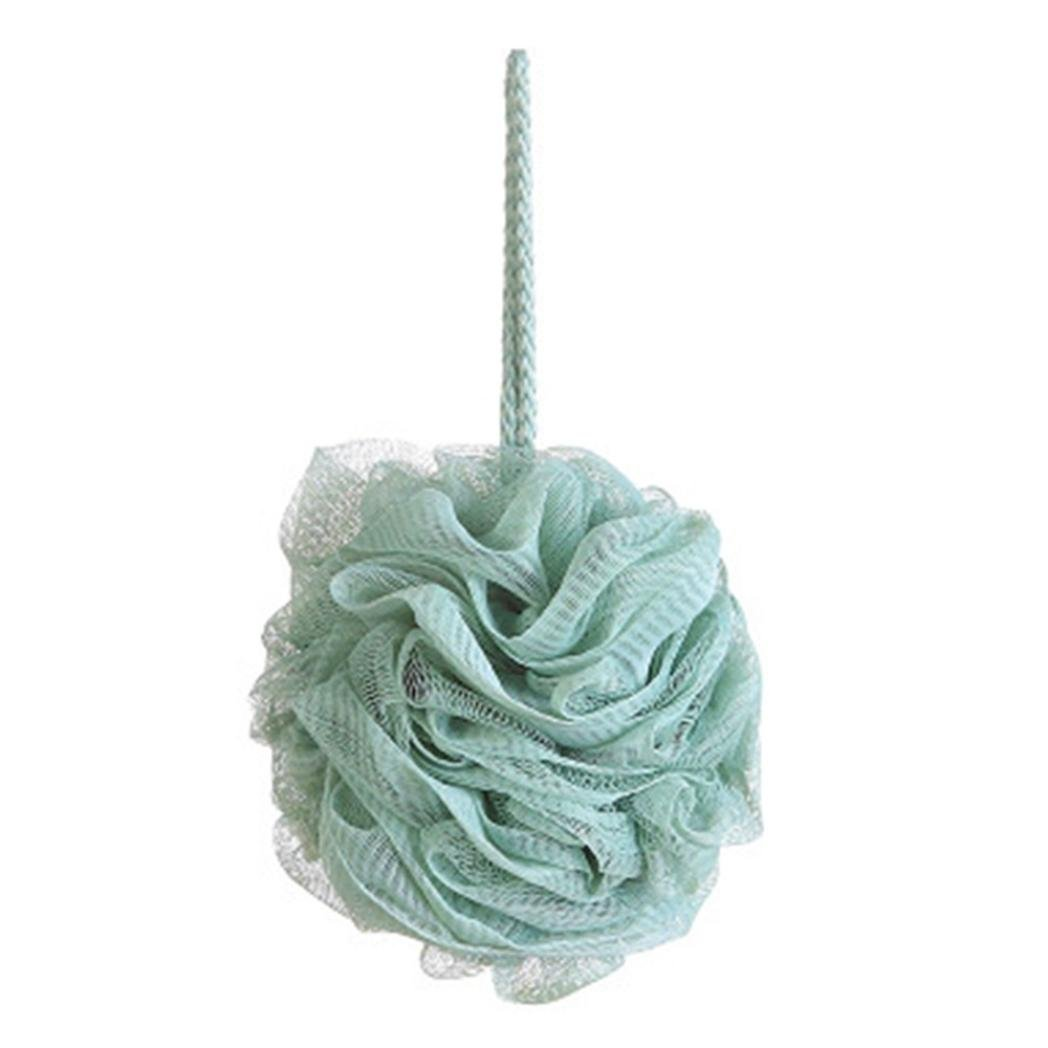 TAOtTAO 1PC Hygienic Soft Bath Ball Rich Bubbles Bath Sponge Brush for Bathroom Shower (White)