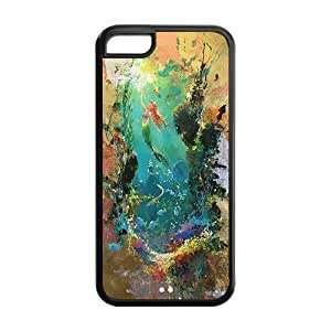 MMZ DIY PHONE CASEMystic Zone Princess Ariel The Little Mermaid Cover Case for Apple iphone 5/5s -(Black and White) -MZ5C00216