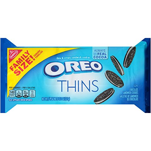 - Oreo Thins Chocolate Sandwich Cookies, Family Size, 13.1 Ounce