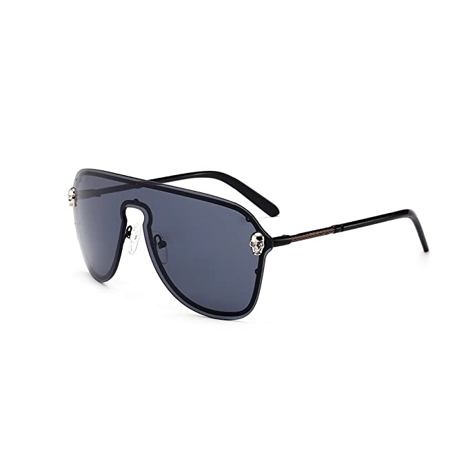 XIAPENGLos hombres de gafas de sol grandes de cráneo de la ...