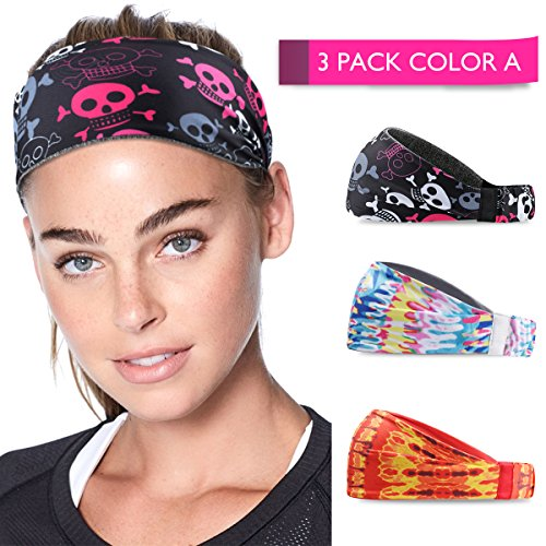 Running Headband Sweat Instant Absorbent Head bands for Women Men, Non Slip Yoga Sweat Headbands for Men women Sports hair band Gym Yoga Crossfit Workout Mens Hair Accessories (Headbands Color A) ()