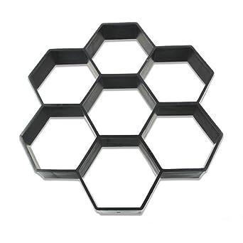 Molde para pavimento de carretera, ladrillo, patio, cemento, jardín, molde hexagonal