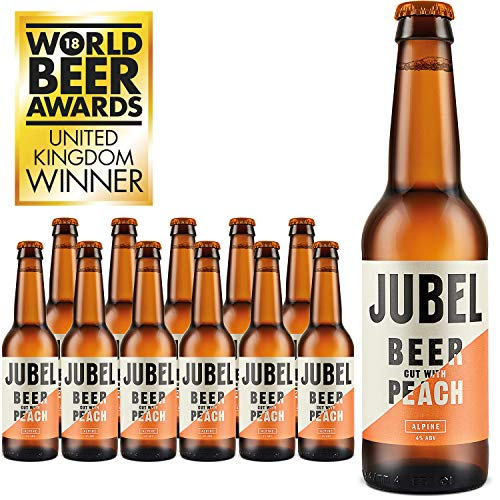 JUBEL PEACH BEER – Gluten-free, Vegan, Low Calorie – 12x330ml Bottles