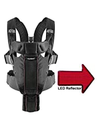 Baby Bjorn 0960002US Airy Miracle Baby Carrier with LED Safety Reflector Light - Black Mesh BOBEBE Online Baby Store From New York to Miami and Los Angeles