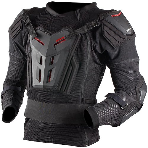 EVS Comp Suit Youth Ballistic Jersey MotoX Motorcycle Body Armor - Black / Small (Evs Body Armor)