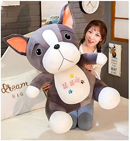 HMMJ Leuke Pug Doll Soft Pug pluche speelgoed for kinderen en volwassenen van alle leeftijden (Size : 75cm)