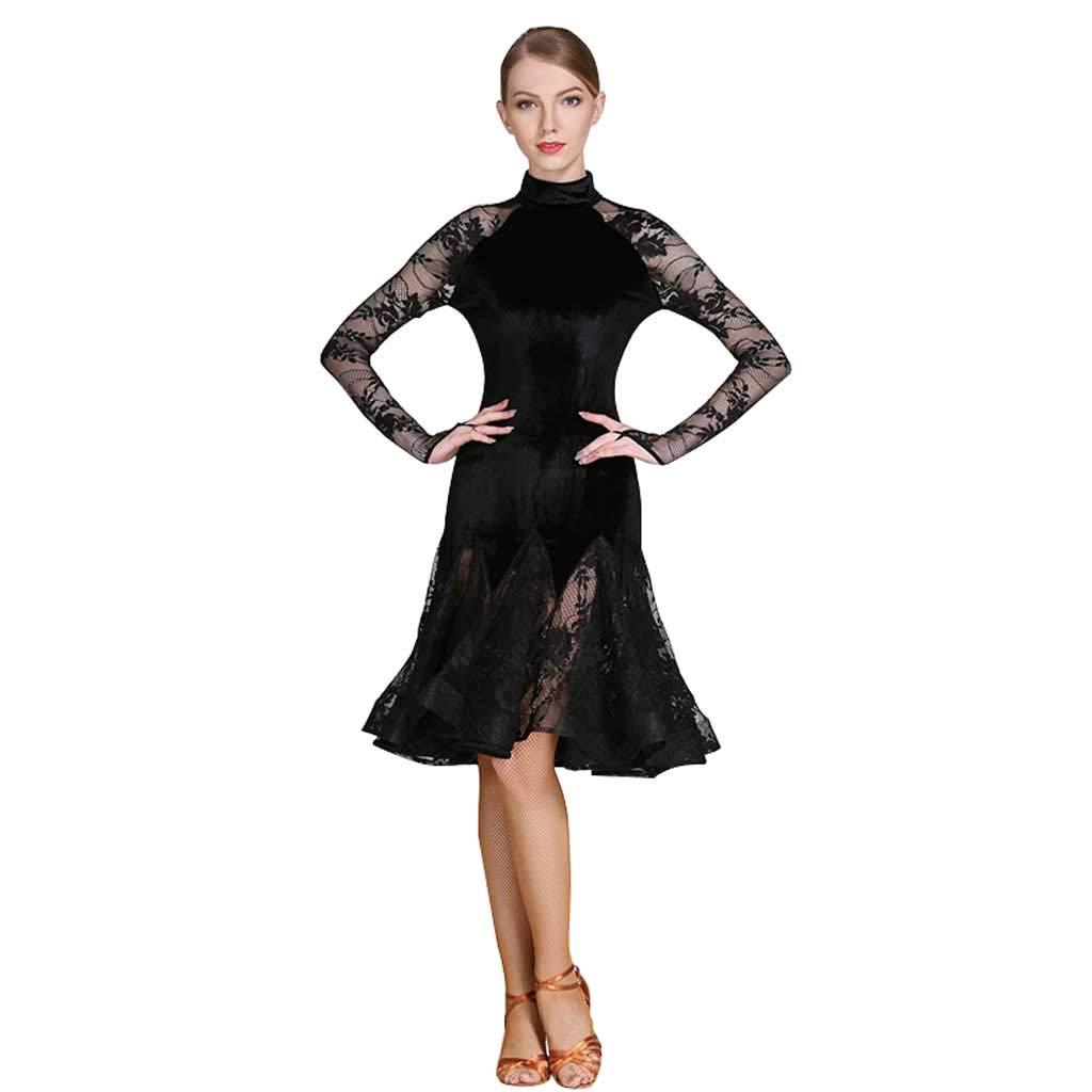 専門店では ラテンダンスドレス、コスチュームアダルト黒ラテンダンスドレス B07H7K2VLZ M ブラック B07H7K2VLZ ブラック M, ラブリービートル:fd46e811 --- kiddyfox.in