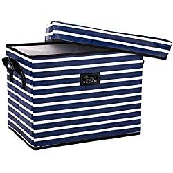 SCOUT Rump Roost Medium Lidded Storage Bin, Nantucket Navy