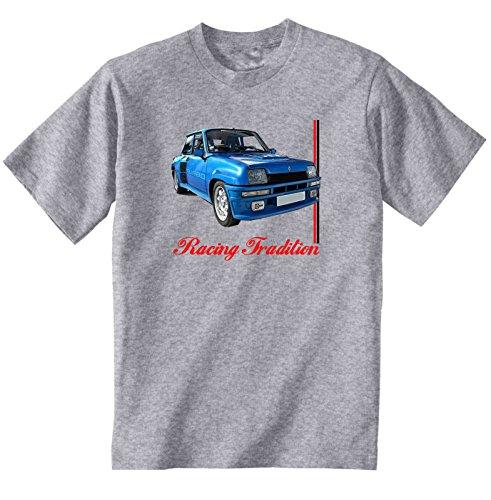 TEESANDENGINES RENAULT 5 GT TURBO INSPIRED Camiseta Gris para hombre de algodon Size XXXLarge