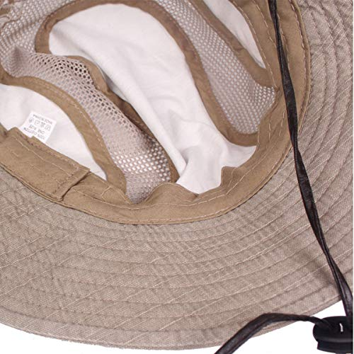 d1b86fd3e47 King Star Men Summer Cotton Cowboy Sun Hat Wide Brim Bucket Fishing Hats